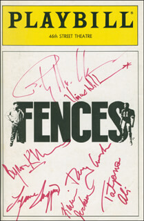 FENCES PLAY CAST - SHOW BILL SIGNED CO-SIGNED BY: BILLY DEE WILLIAMS, LYNNE THIGPEN, BYRON KEITH MINNS, TATYANA ALI, KEVIN JACKSON, RAY ARAHNA, VINCE WILLIAMS