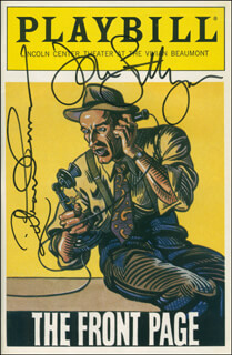 THE FRONT PAGE PLAY CAST - SHOW BILL SIGNED CO-SIGNED BY: JOHN LITHGOW, RICHARD THOMAS