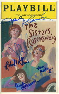 THE SISTERS ROSENSWEIG PLAY CAST - SHOW BILL SIGNED CO-SIGNED BY: ROBERT KLEIN, JANE ALEXANDER, MADELINE KAHN, CHRISTINE ESTABROOK, ROBIN MOSELEY