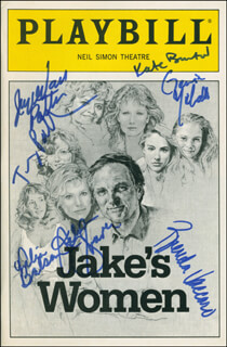 JAKE'S WOMEN PLAY CAST - SHOW BILL SIGNED CO-SIGNED BY: BRENDA VACCARO, JOYCE VAN PATTEN, HELEN SHAVER, KATE BURTON, TRACY POLLAN, GENIA MICHAELA, TALIA BALSAM