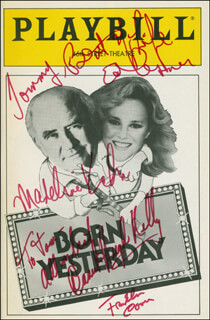 Autographs: BORN YESTERDAY PLAY CAST - INSCRIBED SHOW BILL SIGNED CO-SIGNED BY: DANIEL HUGH KELLY, ED ASNER, FRANKLIN COVER, MADELINE KAHN