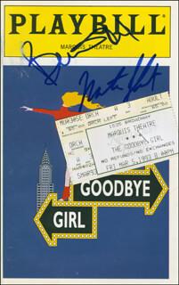THE GOODBYE GIRL PLAY CAST - SHOW BILL SIGNED CO-SIGNED BY: BERNADETTE PETERS, MARTIN SHORT