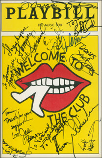 WELCOME TO THE CLUB PLAY CAST - INSCRIBED SHOW BILL SIGNED CO-SIGNED BY: CY COLEMAN, AVERY SCHREIBER, JODI BENSON, MARILYN SOKOL, TERRI WHITE, SAMUEL E. WRIGHT, SCOTT WENTWORTH, SCOTT WAARA, BILL BUELL, MARCIA MITZMAN, SALLY MAYES