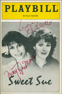 SWEET SUE PLAY CAST - SHOW BILL SIGNED CO-SIGNED BY: MARY TYLER MOORE, LYNN REDGRAVE