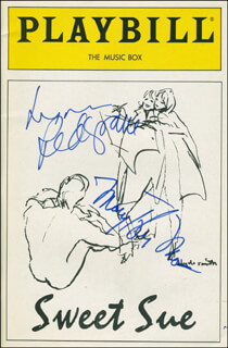 SWEET SUE PLAY CAST - SHOW BILL COVER SIGNED CO-SIGNED BY: MARY TYLER MOORE, LYNN REDGRAVE
