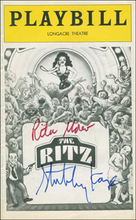 THE RITZ PLAY CAST - SHOW BILL SIGNED CO-SIGNED BY: STUBBY KAYE, RITA MORENO