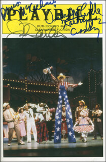 STATE FAIR PLAY CAST - SHOW BILL SIGNED CO-SIGNED BY: KATHRYN GRANT CROSBY, JOHN DAVIDSON, ANDREA MCCARDLE, DONNA McKECHNIE