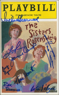 Autographs: THE SISTERS ROSENSWEIG PLAY CAST - SHOW BILL SIGNED CO-SIGNED BY: REX ROBBINS, BRYAN O'BYRNE, LINDA LAVIN, MICHAEL LEARNED, HAL LINDEN, JOANNE CAMP, AMY RYAN, TOM HEWITT