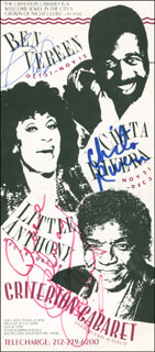 LITTLE ANTHONY AND THE IMPERIALS (ANTHONY GOURDINE) - ADVERTISEMENT SIGNED CO-SIGNED BY: CHITA RIVERA, BEN VEREEN