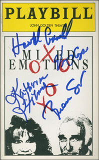 MIXED EMOTIONS PLAY CAST - SHOW BILL SIGNED CO-SIGNED BY: KATHERINE HELMOND, HAROLD GOULD, VINCE CUPONE, BRIAN SMIAR