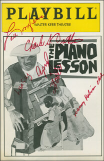 THE PIANO LESSON PLAY CAST - SHOW BILL SIGNED CO-SIGNED BY: CHARLES S. DUTTON, APRYL R. FOSTER, LISA GAY HAMILTON, LOU MYERS, DANNY ROBINSON CLARK