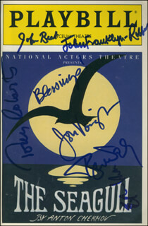Autographs: THE SEAGULL PLAY CAST - SHOW BILL SIGNED CO-SIGNED BY: TONY (ANTHONY) ROBERTS, JOHN BEAL, JON VOIGHT, TYNE DALY, ETHAN HAWKE, JOHN FRANKLYN-ROBBINS
