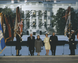 Autographs: PRESIDENT GEORGE W. BUSH - PHOTOGRAPH SIGNED CO-SIGNED BY: VICE PRESIDENT DICK CHENEY