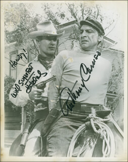 SUGARFOOT TV CAST - AUTOGRAPHED SIGNED PHOTOGRAPH CO-SIGNED BY: WILL SUGARFOOT HUTCHINS, ANTHONY CARUSO