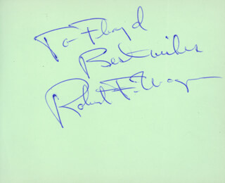 ROBERT F. WAGNER JR. - AUTOGRAPH NOTE SIGNED
