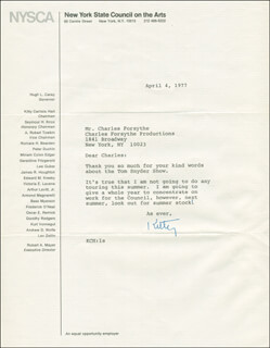 KITTY CARLISLE - TYPED LETTER SIGNED 04/04/1977