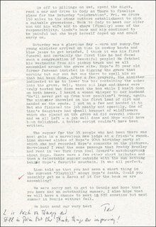 NORMAN STURGIS - TYPED LETTER SIGNED 08/23/1990