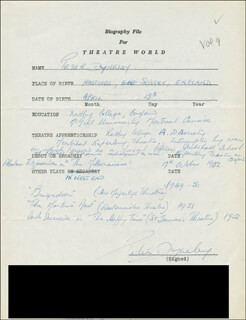 PETER DYNELY - AUTOGRAPH RESUME SIGNED