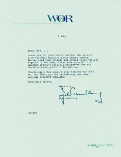 JOHN A. GAMBLING - TYPED LETTER SIGNED