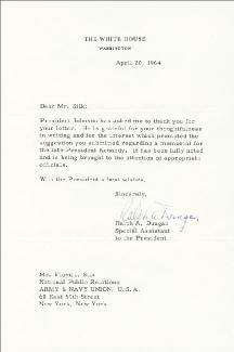 RALPH A. DUNGAN - TYPED LETTER SIGNED 04/20/1964