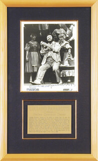 LUCIANO PAVAROTTI - AUTOGRAPHED SIGNED PHOTOGRAPH 1983