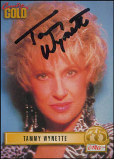 TAMMY WYNETTE - TRADING/SPORTS CARD SIGNED