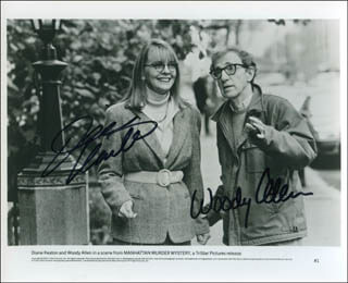 MANHATTAN MURDER MYSTERY MOVIE CAST - AUTOGRAPHED SIGNED PHOTOGRAPH CO-SIGNED BY: WOODY ALLEN, DIANE KEATON