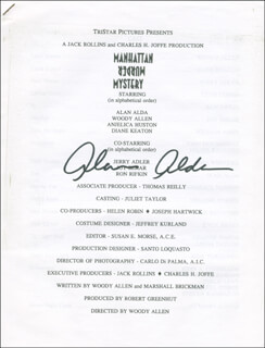 Autographs: ALAN ALDA - PROGRAM SIGNED