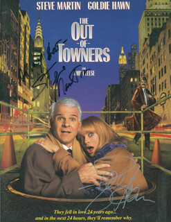 THE OUT OF TOWNERS MOVIE CAST - ADVERTISEMENT SIGNED CO-SIGNED BY: STEVE MARTIN, GOLDIE HAWN