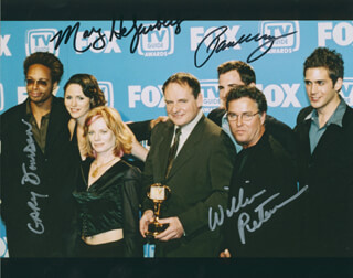 CSI: CRIME SCENE INVESTIGATION TV CAST - AUTOGRAPHED SIGNED PHOTOGRAPH CO-SIGNED BY: MARG HELGENBERGER, WILLIAM PETERSEN, GARY DOURDAN, PAUL GUILFOYLE