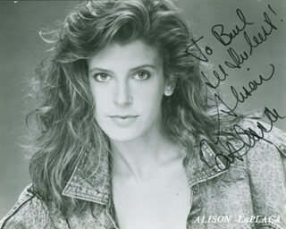 ALISON LA PLACA - AUTOGRAPHED INSCRIBED PHOTOGRAPH