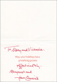 HANS CONRIED - CHRISTMAS / HOLIDAY CARD SIGNED