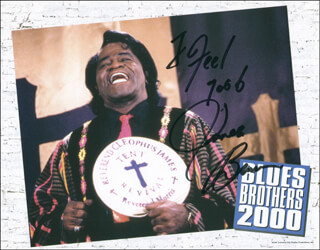 Autographs: JAMES GODFATHER OF SOUL BROWN - PHOTOGRAPH SIGNED