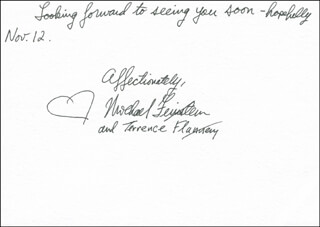 MICHAEL FEINSTEIN - AUTOGRAPH LETTER SIGNED 10/28/2005