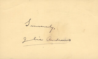 JULIE ANDREWS - PICTURE POST CARD SIGNED CIRCA 1956
