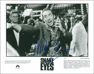 NICOLAS CAGE - AUTOGRAPHED SIGNED PHOTOGRAPH