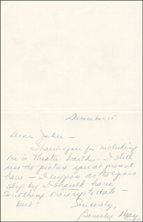 BEVERLY MAY - AUTOGRAPH LETTER SIGNED 12/15
