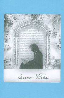 ANNE RICE - BOOK PLATE SIGNED