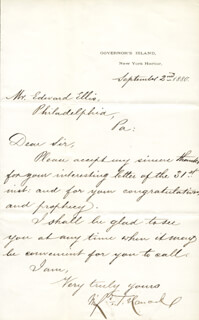MAJOR GENERAL WINFIELD SCOTT HANCOCK - MANUSCRIPT LETTER SIGNED 09/02/1880