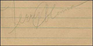 JERRY COLONNA - AUTOGRAPH