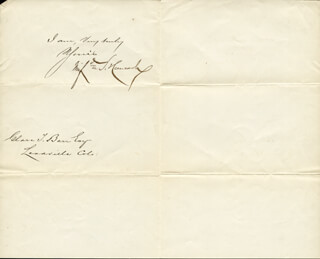 MAJOR GENERAL WINFIELD SCOTT HANCOCK - MANUSCRIPT LETTER SIGNED 11/17/1880