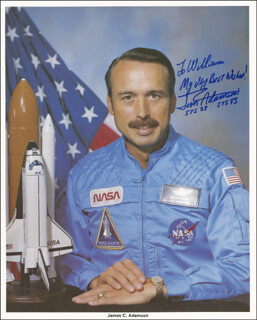 COLONEL JAMES C. JIM ADAMSON - AUTOGRAPHED INSCRIBED PHOTOGRAPH