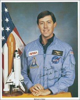 CAPTAIN MIKE BAKER - AUTOGRAPHED INSCRIBED PHOTOGRAPH