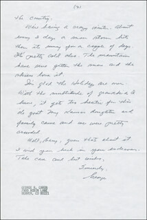 ENOLA GAY CREW (GEORGE R. CARON) - AUTOGRAPH LETTER SIGNED 01/18/1992