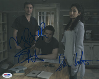 Autographs: BEING HUMAN TV CAST - PHOTOGRAPH SIGNED CO-SIGNED BY: SAM HUNTINGTON, SAM WITWER, MEAGHAN RATH