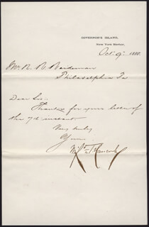 MAJOR GENERAL WINFIELD SCOTT HANCOCK - MANUSCRIPT LETTER SIGNED 10/09/1880