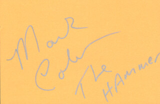MARK THE HAMMER COLEMAN - AUTOGRAPH