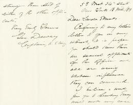 ADMIRAL GEORGE DEWEY - AUTOGRAPH LETTER SIGNED 03/18/1889