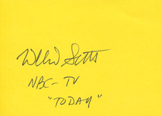 WILLARD H. SCOTT JR. - AUTOGRAPH
