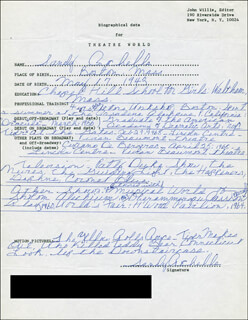 SANDY ROCHELLE - AUTOGRAPH RESUME SIGNED